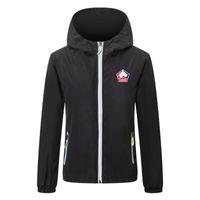 Lille LOSC Futbol Rüzgarlık Ceketler Katı Renk Rüzgarlık Fermuar Kapşonlu Ceket Aydınlık Ceket Spor Rahat Hip Hop Erkek Ceketler4