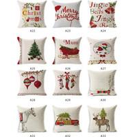 Modelo de la Navidad creativa de almohada cubierta 45 * 45 la funda de almohada cojines del sofá decorativo Casos de algodón de lino fundas de almohada Decoración Juguetes