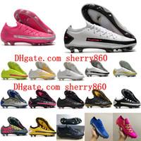 2021 Футбольные ботинки Качество Мужские Клеиты Phantom GT Elite Tech Craft FG Футбольные Сапоги Chuteiras Scarpe Da Calcio