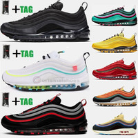 2021 Plus Size US 13 Vapourmax 97 Correndo Sapatos Black Bullet EUA Neon Triple White Mens Trainers Mulheres Esportes Sneakers EUR 47