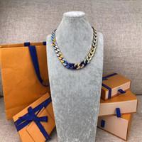 2019 Dernier lancement French Masters Conception de Bracelets de luxe Chaîne Liens Liens Patchs Bracelet Coloré Collier Bijoux V Lettre