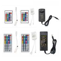 12 V 5A Güç Kaynağı RGB Remoter 5050 3528 Için LED Şerit Işık LED Sürücü Aydınlatma Trafosu RGB Dimmer Kontrol Connector