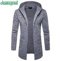 Chamsgend Neue Männer Mit Kapuze Sweatshirt Herbst Winter Männliche Mode Cardigan Langarm Outwear Bluse Männer Pullover Outwear Tops # 40