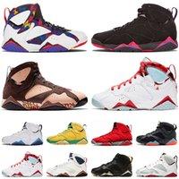 Nike Air Jordan Retro 7 chaussures de basket-ball de taille Bordeaux Hare 47 hommes formateurs de créateurs les chaussures de sport de Ray Les Allen Pull de sport