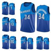 2021 hombres de alta calidad Giannis 34 Antetokounmpo 1 Merrill 3 Craig 7 Forbes 13 NWORA 20 Stauskas Basketball Jersey