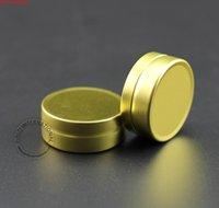 100 teile / los förderung 10g aluminium creme jar leer kosmetik 10 g attack kasten nachfüllbar behälter massiv gold kappe flaschegood menge