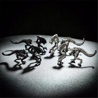 Pterosaurio Joyería Punk Terrible Dinosaurio Monstruo Pendientes Pendientes Halloween Aliens Cool Mujeres y hombres Regalos Declaración Pendiente
