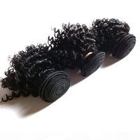 Moda Brezilyalı Virgin İnsan Kısa Kinky Saç 8-18 inç Çift Atkı 3 adet 300g lot Populer Kıvırcık Hint Avrupa Saç Uzantıları Inus UK