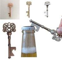 Vintage Keychain Opener Ancient Copper Key Beer Bottle Opener Creative Wedding Present Party Bar Tool Metal Key Kedjan Öppna 4 Färger BC BH4187
