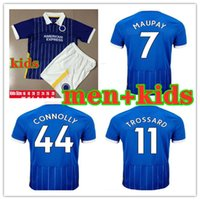 kit hommes + enfants maillots de football Brighton Hove 2020 2021 MAUPAY TROSSARD CONNOLLY MURRAY Maillot de foot 20 21 Maillot de football adulte et enfant Brighton