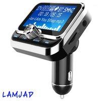 FM Verici, Araba Verici MP3 Çalar El-Free Arama Radyo Ses Adaptörü Bluetooth Verici Araç Kiti, USB Şarj, TF C1