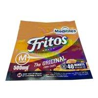 Новый 4 Дизайн 500 мг Межущиеся Fritos Doritos Nacho Cool Ranch Snuck Cheetos Crunchy Infence Snucks Medibles Упаковка Майлара Сумка