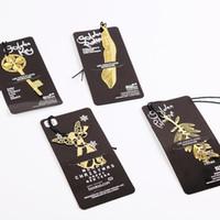 Carino kawaii oro metallo bookmark vintage chiave piuma angelo segnalibri graffetta per libro coreano statio jllhkb