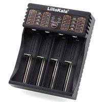 lii402 Liitokala 3.7V متعدد الوظائف شاحن 18650 26650 أربعة فتحة USB شاحن مصباح يدوي القابلة لإعادة الشحن بطارية ليثيوم أيون شحن البطاريات