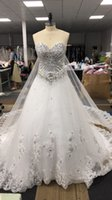 2021 Real pics A- Line Wedding Dresses Gown Sweetheart Brads ...