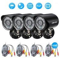 Systeme Owsoo 4 * 720P 1500TVL AHD wasserdichte CCTV-Kamera + 4 * 60ft-Überwachungskabel-Unterstützung IR-CUT-Nachtansicht für Home Security System1