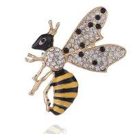Moda Diamond-borksted Spilla insetto femminile Personality Cartoon Bee Brooch Corsage Abbigliamento Accessori Accessori Silk Sciarpa Fibbia