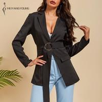 MEIYANGYOUNG solide Veste de couleur Loose Women manches longues Femme Veste de préparation à la Collor Femmes Vestes et manteaux 2020 Veste