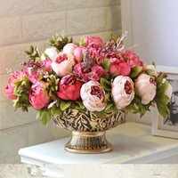 Decorative Flowers & Wreaths 12 Bunches/pack Top-rated Beautiful Peony Flower Home Decoration 8 Room Wedding