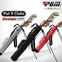 PGM Lightweight impermeável bolsa de golfe portátil grande capacidade de golfe carry bag saco de golfe bolsa de golfe com sacolas de rack de arma de suporte 201029