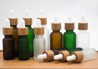 Garrafas 30ml vidro essencial óleo composição original frasco de garrafa de gotas essência geada