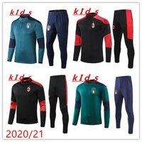 키즈 훈련 정장 20 21 National Team Kids 2020 2021 Italia Tracksuit Chandal Futbol Long Sleeve Football Boys 스웨터 Tracksuit
