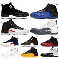 Baratos 12 sapatos reverso táxi 12s FIBA Men Basquete O tamanho Mestre Midnight Black Dark Gray Mens Formadores Sapatilhas Sports 7-13 Atacado