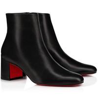 Oldukça Kadınlar Bilek Patik Sonbahar Kış Boot Kırmızı Bottoms Topuklar Boots, Paris Kırmızı Taban Topuk Kadınlar Patik Turela Süet Bilek Boots pompaları