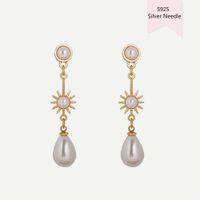2020 Mode Ohrringe Damen S925 Silber Postimation Pearl Retro Designer Ohrringe Wassertropfen Lange Ohrstecker