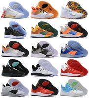 جديد بول جورج PG 3 3S بالمدال III P.GEORGE أحذية كرة السلة PG3 NASA EYBL الأزرق البرتقالي الأسود الرياضة المدربين رجل حذاء رياضة 40-46