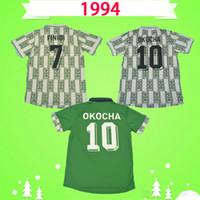Nigeria Copa do mundo 1994 Retro Nigéria Starboy clássico camisa de futebol 94 Okecha Yekini Amokachi 94 uniformes vintage em casa verde soccer jersey football shirt Maillot