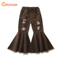 Free shipping 7 Styles Trousers Baby Wide Leg Flare Fashion Toddler Kids Bell Bottom Ruffle Girls Pants LJ201019