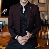 Plus Size 5xl Slim Fit Herren Blazer Vintage-Jackett Men Chaqueta Hombre 2020 Autumn Blazer Hombre Masculino Completo