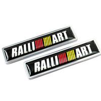 Araba Dekorasyon Çıkartması Yan Kapı Sticker Mitsubishi Ralliart Logo ASX Lancer Pajero Outlander L200 EVO Eclipse Grandis Galant