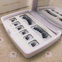 100% Hecho a mano 8pcs 3D Faux Mink Pestañas magnéticas Pestañas falsas con pestañas naturales Pinzas Caja de acrílico para Dropshipping