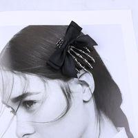 Clipes gótico Mãos de esqueleto Cabelo óssea Grampos Punk Garra Jacaré Headwear touca para Halloween Costume Prom