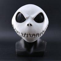 Новый кошмар перед Рождеством Джек Скеллингтон Белый латексная маска фильма косплей реквизит Хэллоуин вечеринка озорная маска ужасов 201026