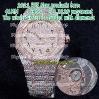 Eternity RFF Gypsophila Pavé Diamant Version 15400 Arabisk ratt fullständigt Iced ut remsida med diamanter Cal.3120 A3120 Automatiska Mens Klockor