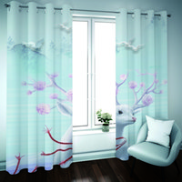 Customize Blackout Curtain 3D Window Home For Living Room Office Bedroom 3d Stereoscopic Landscape Animals Curtains Window Drapes