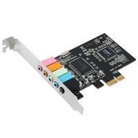 Schede audio PCIe Card 5.1, PCI Express Surround audio 3D per PC con supporto ad alta prestazione diretta Staffa a basso profilo
