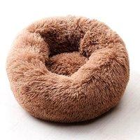 WillStar Dog Bed Winter Cálido Largo Peluche Camas de dormir Soild Color Soft Pet Dogs Cat Mat Cushion Dropshipping 201125