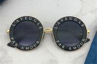 Классический стиль круглая винтажная буква дизайн рамка с золотой пчелой высочайшее качество UV400 защита Открытый летний очки 0113