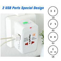 Universal World Wide Viajando Adaptador de CA enchufe International Power Charger Eléctrico USB Enchufe Enchufe Adaptador Adapter Converter1