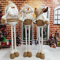 Санта-Клаус, стоящая кукла, растягивающие украшения регулируемая рудольф безликая кукла дети подарок игрушка рождественские эльф украшение LJ201128