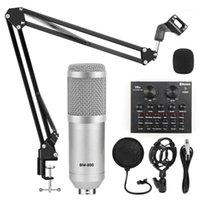 BM 800 Karaoke Microfone Kits BM800 Condensador Microfone para Gravação de Computador Card de som Voz Changer Phantom Power1