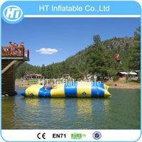 شحن مجاني حار مبيعات تجارية عالية الجودة 5x2m بحيرة نفخ ألعاب المياه النقط للبيع نفخ المنجنيق المياه blob