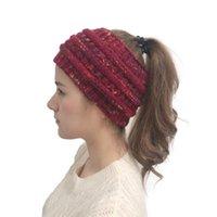 automne tricotée serre-tête Crochet hiver nouvelles femmes Bandeaux wrap Hairband bibi Hat Head Robe Coiffes PPF2301