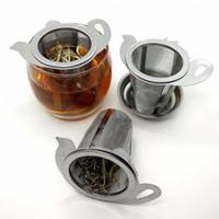 Чайная сетка металлический инфузор из нержавеющей стали чашки листьев листьев с крышкой новые кухонные аксессуары чайные инфузаторы 417 N2