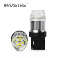 2x New arrival W21W LED Reverse Lights 800LM 30W CREE Chip XBD T20 Lamp WY21W 7440 Rear Tail Brake Light LED Parking Bulb White1