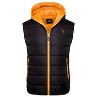 2019 Jacket New Giraffe Marca Inverno Homens Hoodied Vest Men Zipper Mens Jacket mangas Casual Inverno Colete Homens